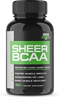Sheer Strength Labs BCAA Capsules - Extra Strength 1,950mg Branched Chain Amino Acids Muscle Building Post Workout Supplem...