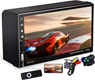7 Inch Double Din Car Stereo with Capacitive Touchscreen...