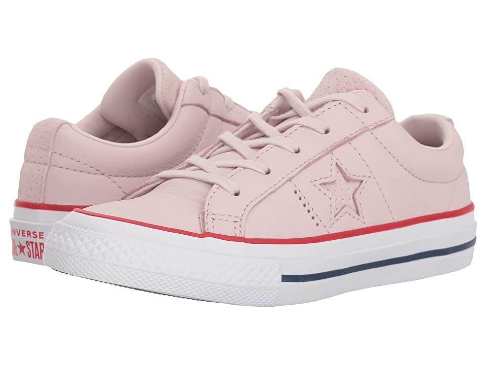 Converse Kids One Star Ox (Little Kid) (Barely Rose/Gym Red/White) Girls Shoes
