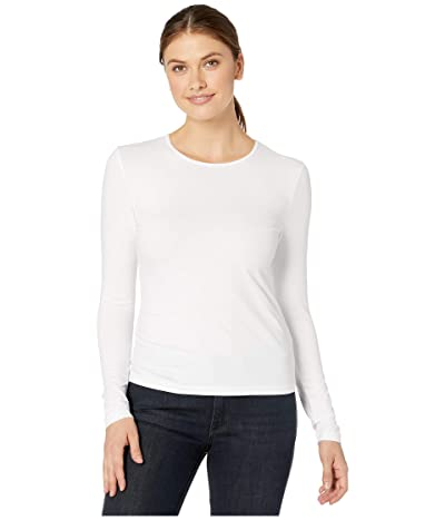 Lilla P Stretch Layering Long Sleeve Crew Neck Tee (White) Women
