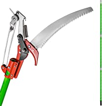 Happybuy Extendable Tree Pole Pruner 26 Foot Pole Saw Tree Saw Alloy Steel Branch Long Reach Pole Pruning Saw for Sawing a...