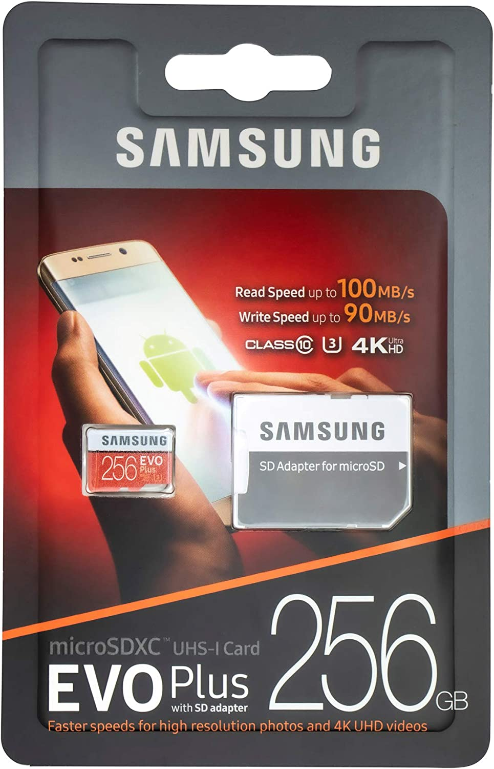 Samsung EVO+ Plus 256GB MicroSD Memory Card for Samsung Phone Works with Galaxy S20 Fan Edition, S20 FE 5G Cell Phone (MB-MC256G) Bundle with (1) Everything But Stromboli SD & Micro SDXC Card Reader