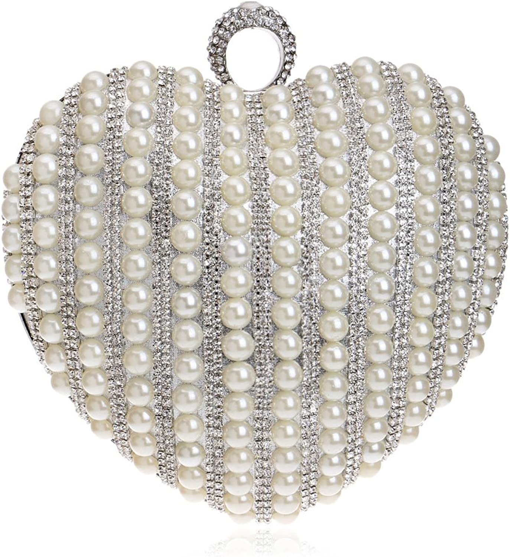 Frauen Handtasche Abend Handtasche Glitter Diamante Pearl Schultertasche Herzförmige Herzförmige Herzförmige Für Braut Hochzeit Prom Clubs Damen Geschenk B07CNJP921  Abholung in der Boutique 589bcc