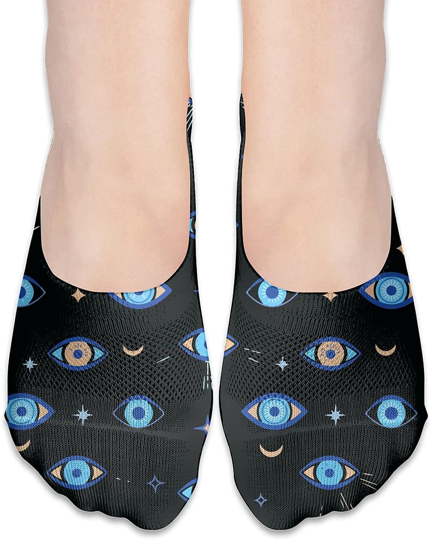No Show Socks Women Men For Turkish Evil Eye Flats Cotton Ultra Low Cut Liner Socks Non Slip