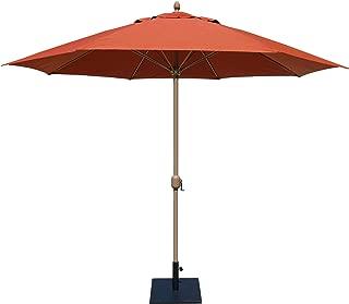 Tropishade 11' Sunbrella Patio Umbrella with Red Brick Cover