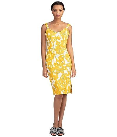 Trina Turk Zile Dress (Marigold/White Wash) Women