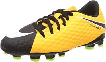 Nike Jr Hypervenom Phelon III FG Kid's Firm Ground Soccer Cleats (4.5 Big Kid M)