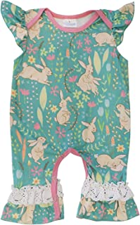 So Sydney Girls Toddler Baby Spring & Easter Romper, 2 Piece, or Boho Lace Ruffle Dress