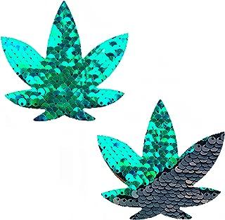 Neva Nude Dope AF Weed Leaf Nipztix Pasties Nipple Covers