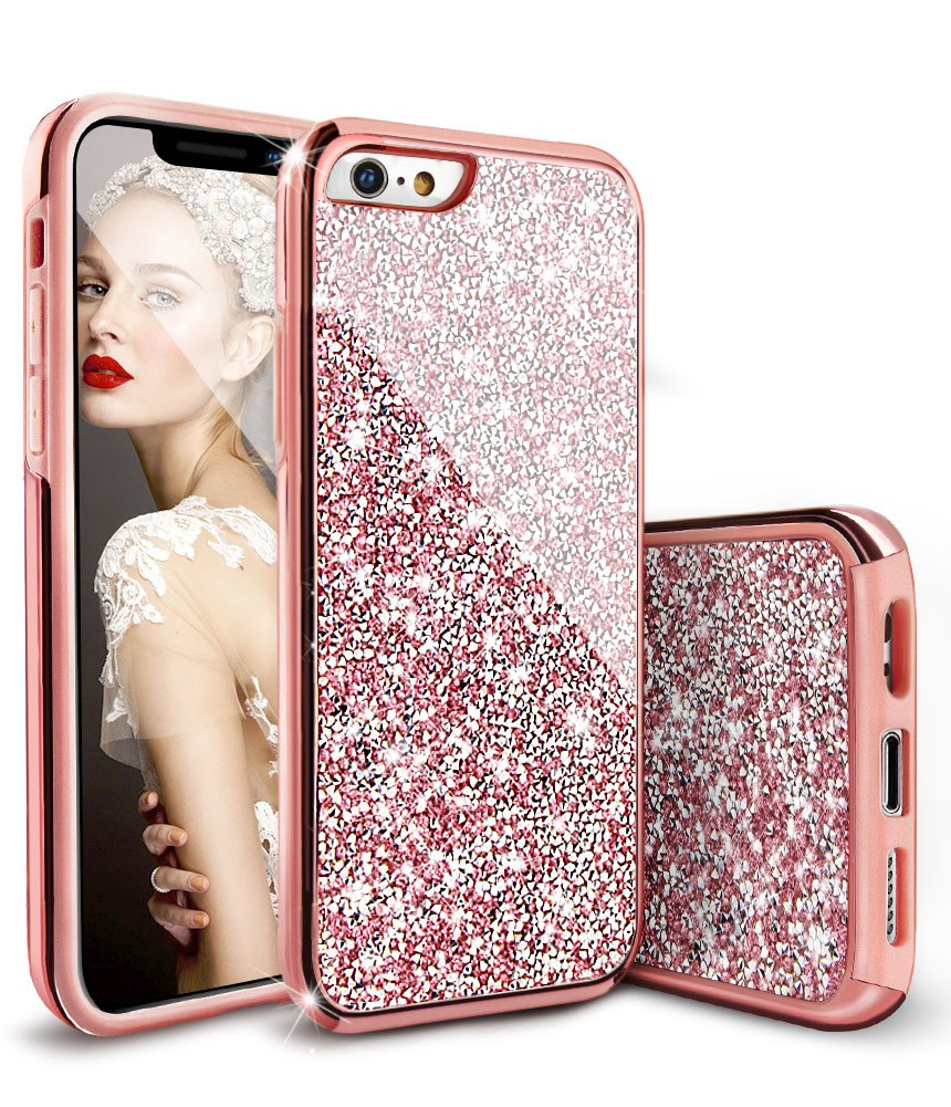 Amazon Com Glitter Iphone 6s Case Iphone 6 Case For Girls Dual