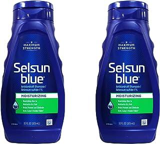 Selsun Blue Moisturizing with Aloe Dandruff Shampoo 11 oz (Pack of 2)