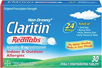 Claritin 24 Hour Non-Drowsy Allergy RediTabs, 10 mg, 30 Count
