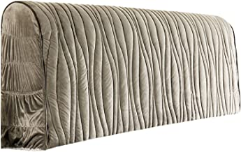Headboard Slipcover Padded for King Bed Soft Cover Protector Stretch Dustproof Super Comfotable Short Plush Head Rest Larg...