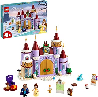 LEGO Disney Princess Belle's Castle Winter Celebration 43180 Beauty and the Beast building set, Toy for Kids 4+ years old ...
