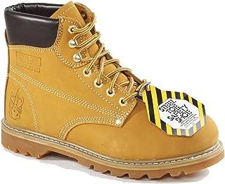 60S17 6 inch Steel Toe Nubuck Safety Work Boot Ð Wheat