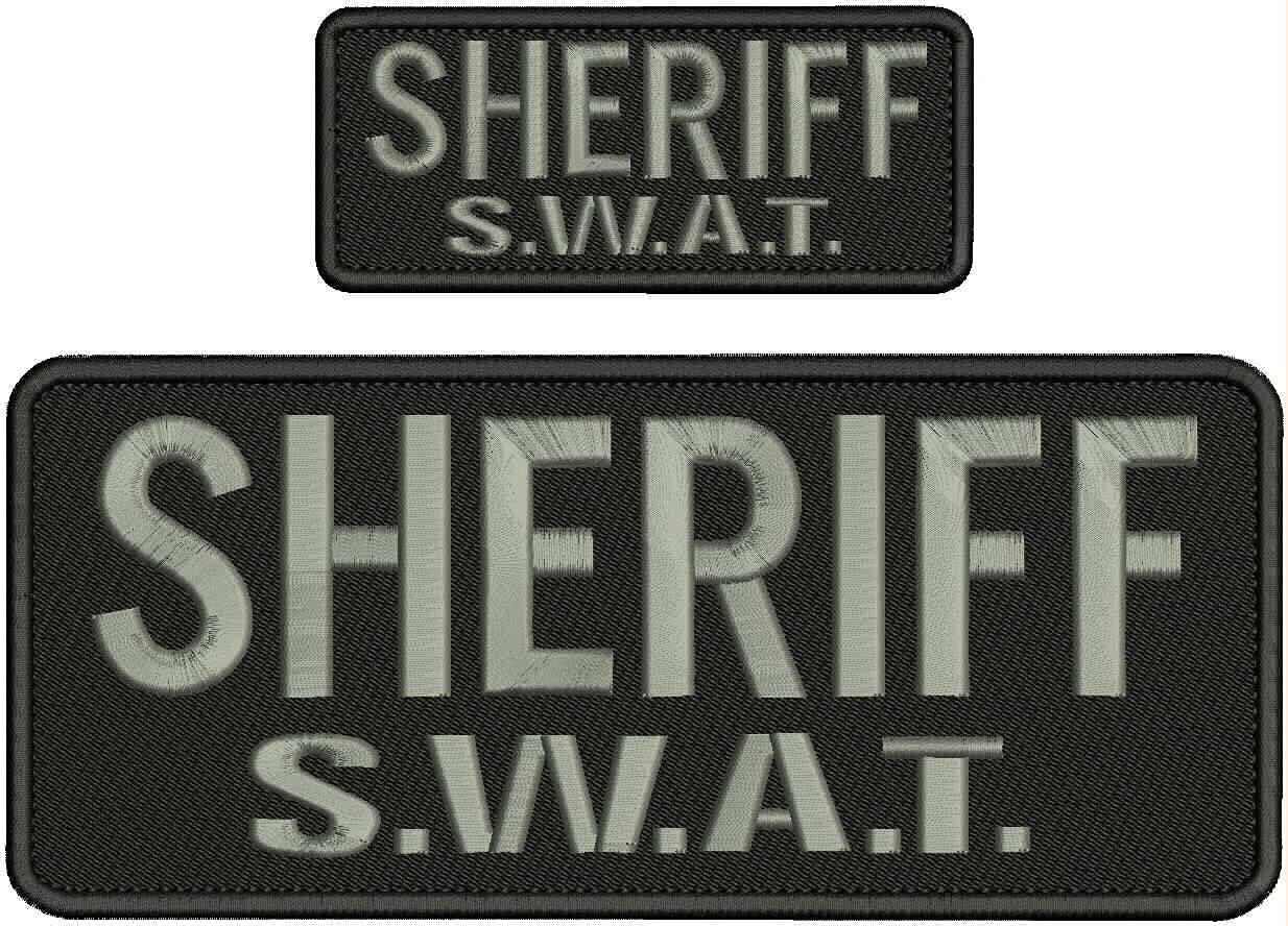 Selling and selling Embroidered Patch - Patches for Man Cheap mail order shopping Women S.W.A.T.Blk Sheriff