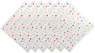 DII Cotton Print Napkin for for Dinner Parties, Weddings & Everyday Use, Set, Polka Dots 6 Piece