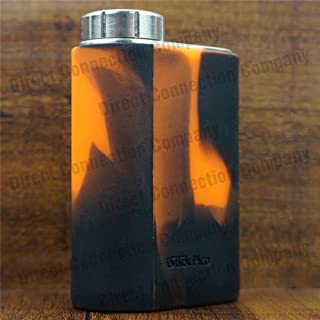 Silicone Case for eLeaf iStick PICO 75W TC Skin Sleeve Cover Wrap (Orange/Black)