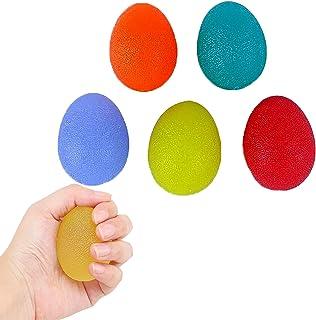 CHSG 5 Packs Siliconen Massage Therapie Grip Bal Stress Relief Ball, Handgreepsterktetrainer, Voor Volwassenen En Kindere...