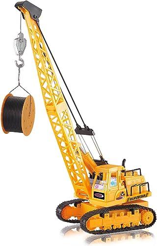 precios mas baratos Jamara Crawler Crane Grúa de Juguete - Juguetes de Control Control Control Remoto (2 x AA, 195 mm, 132 mm, 510 mm, 696,4 g)  tienda de pescado para la venta