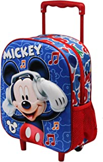 Mickey Mouse Music-Mochila Basic con Carro