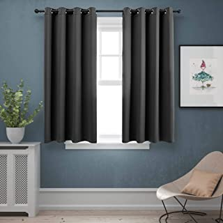 BLUEROCK Blackout Curtains Thermal Insulated Insulated Room Darkening Window Drapes for Living Room (Set of 2, 52 x 63 Inc...