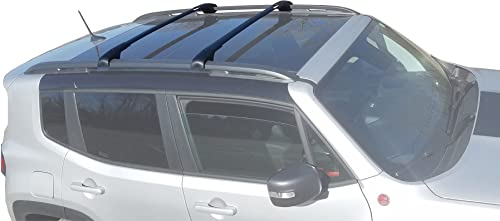 BrightLines Aero Crossbars Roof Racks Compatible with 2015-2021 Jeep Renegade