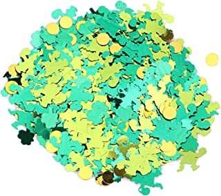 Amosfun 15g St. Patrick's Day Confetti Green Shamrock Green Gold Leprechaun Disc Foil Confetti Table Sprinkles for Party Wedding Birthday