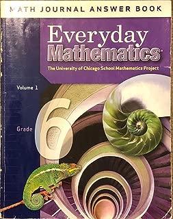Everyday Mathematics: Math Journal Answer Book, Vol. 1, Grade 6
