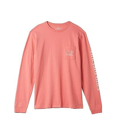 Vineyard Vines Long Sleeve Whale Pocket T-Shirt (Lobster Reef) Men