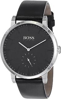 Hugo Boss Essence Men's Black Dial Leather Band Watch - 1513500