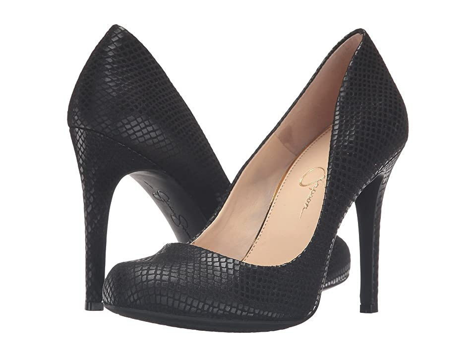 Jessica Simpson Calie (Black Ditzy Snake) High Heels