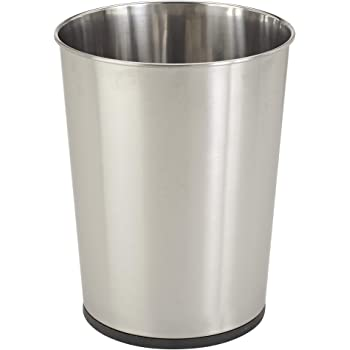 Bath Bliss Stainless Steel Trash Can-5-Liter Wastebasket Perfect for Bathroom, Bedroom, Office, Small Space Living 11 Inches