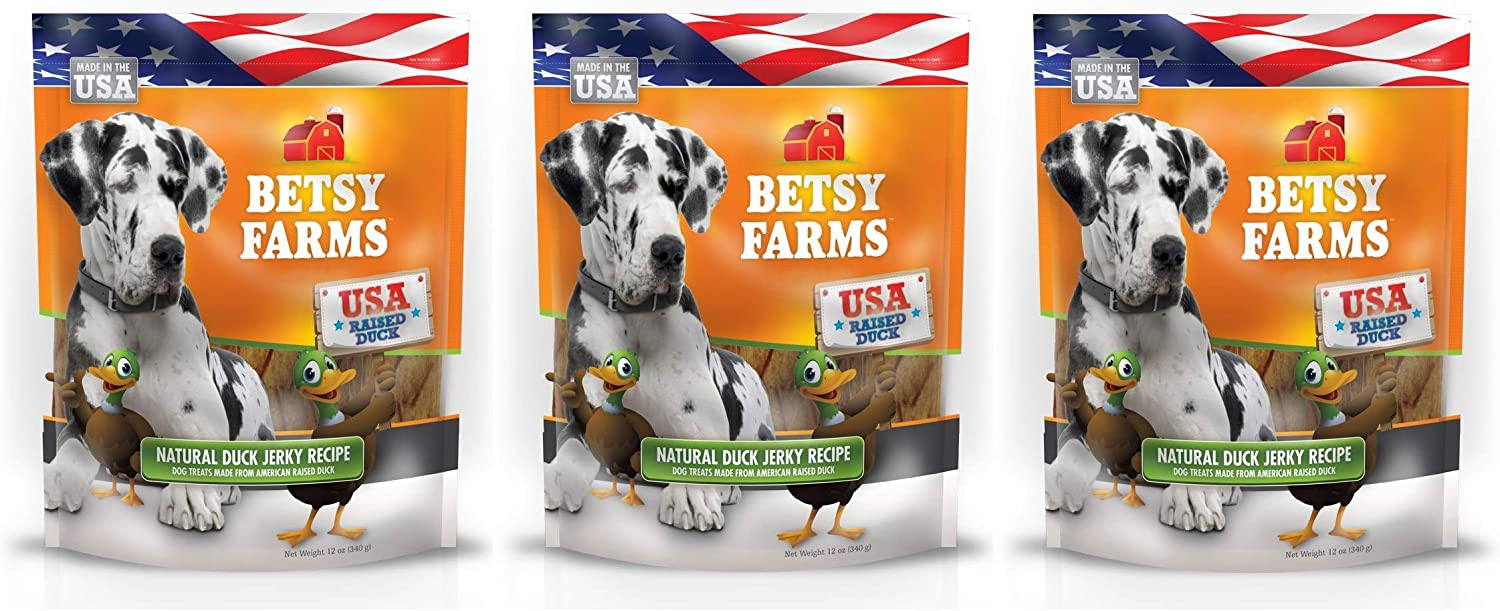Betsy Farms 3 Pack of Grain-Free Dog Treats Jerky Ranking Sales of SALE items from new works TOP19 Duck Natural