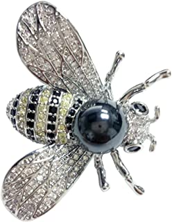 NONOSIZE Bling Bling Pendant/Brooch Queen Bee Rhinestone Brooch Fashion Necklace Golden or Silvery