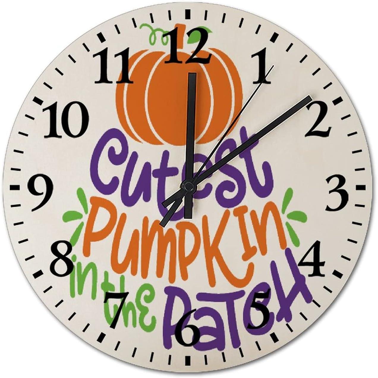 13inch Wood Clock Cutest Pumpkin in The Patch Baby Halloween Kid