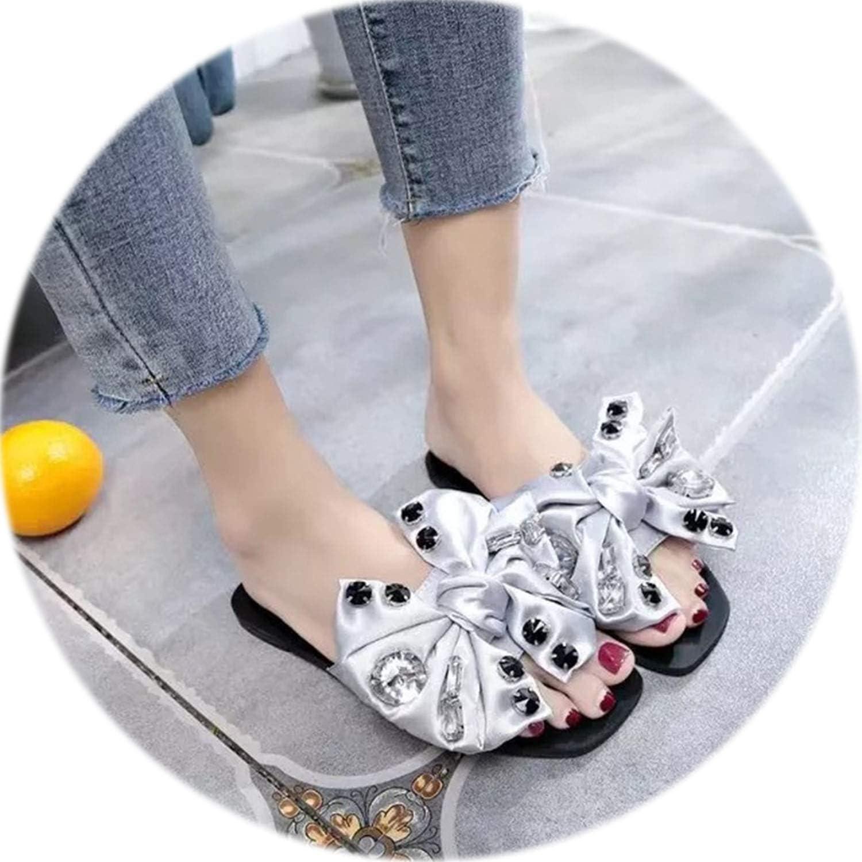 Rather be 2019 Fashion Women Slippers Flip Flops Summer Women Crystal Bling Beach Slides Sandals Casual shoes Rhinestone Slip On Slipper