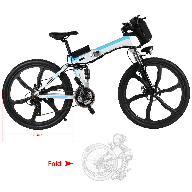 ZOKEO 26 Pulgadas montaña Plegable Bicicleta eléctrica híbrida Hombre de montaña 250 W 36 V Mountain Bike en aillage de Aluminum 30 km/h E-Bike (Type 2): Amazon.es: Deportes y aire libre