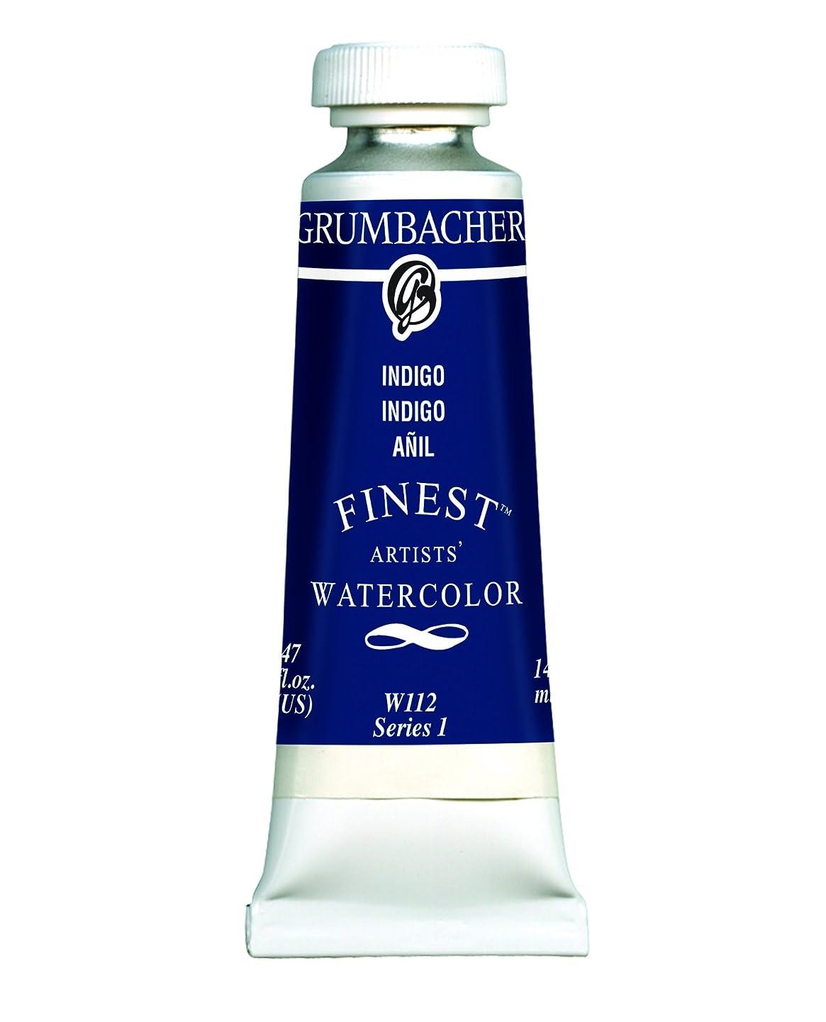 Grumbacher Finest Watercolor Paint, 14 ml/0.47 oz, Indigo