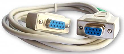 your cable store 6 foot db9 9 pin serial port cable female / female rs232