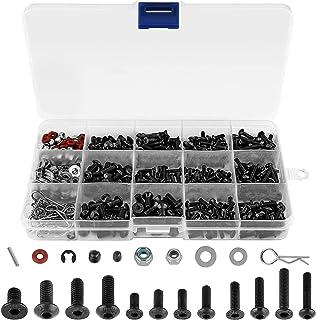 500Pcs RC Screw Kit RC Repair Tool Assortment Set Universal Screws Hardware Fasteners Set RC Spare Parts & Repair Accessor...