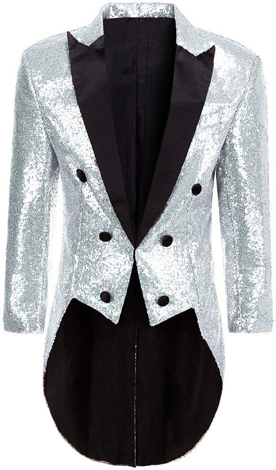 Limited price DGMJ Sequins Arlington Mall Tailcoat Circus Costume for Men Dinne Stylish Party