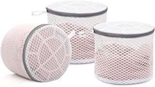 3Pcs Durable Honeycomb Mesh Laundry Bags for Delicates, Lingerie Wash Bag 6 x 7 Inches