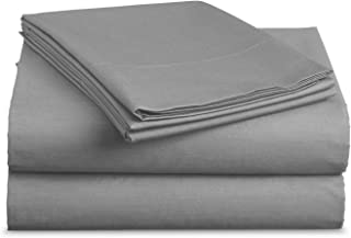Luxe Bedding Sets - Microfiber Twin Sheet Set 3 Piece Bed Sheets, Deep Pocket Fitted Sheet, Flat Sheet, Pillow Case Twin Size - Charcoal Gray