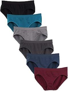 Kalon 6 Pack Women`s Hipster Brief Nylon Spandex Underwear
