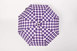 AUWANGAOFEI Dot Folded Lace Sweet Tang Automatic Umbrella Sun Umbrella (Color : Purple)