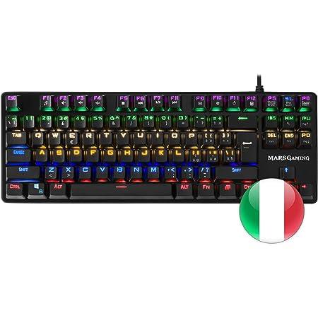 Mars Gaming MK4MINI, teclado gaming mecánico, RGB, antighosting, layout Italiano.