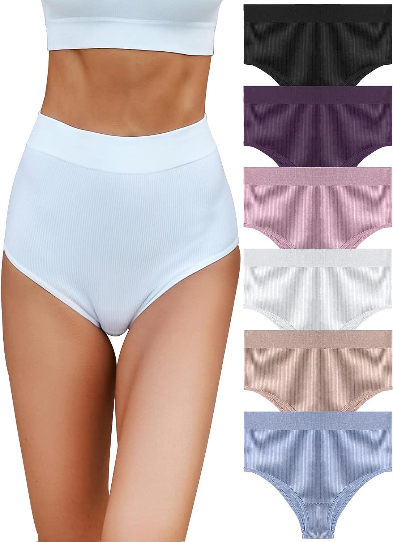 FINETOO 6 Pack Womens High Ladies Sacramento Mall Soft Breath Waisted shipfree Underwear