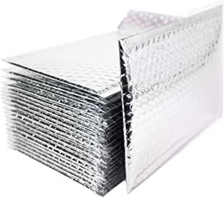 Empire Mailers #0 Silver Foil Bubble Mailers 6 Inch x 10 Inch Metallic Padded Mailers, Waterproof and Tear Resistant, Self-Seal Adhesive Shipping Postal Bags, Ideal for Fragile Items, Pack of 12