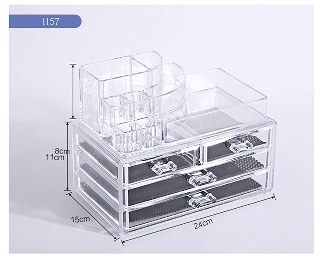 メタン犬慣れるTomori(トモリ)   (トモリ)Tomori 引出しデスクトップ 化粧品 収納ボックス アクリル 透明化粧箱 メイクケース コスメ収納 クリアアクセサリー(スタイル1)